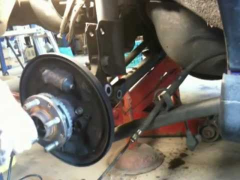 how to fix change 98 subaru impreza rear wheel bearing