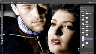 colorized  photo from  (My Darling Clementine film) through Photoshop cc