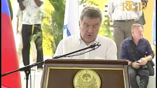 International Olympic Committee President Thomas Bach and Haiti Olympic sports complex
