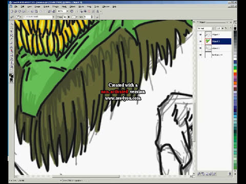 Corel Photopaint Wacom Bamboo Pen Tablet Speed Drawing & Painting