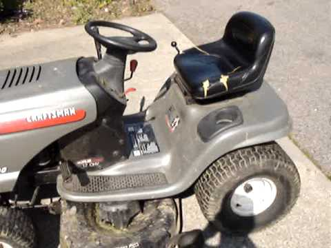 A ride on the Sears Craftsman Lawnmower