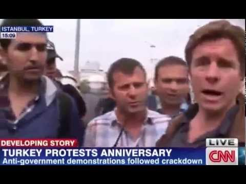 CNN reporter detained by police in Istanbul ,Turkey │Gezi Park Taksim Protest 31 05 14