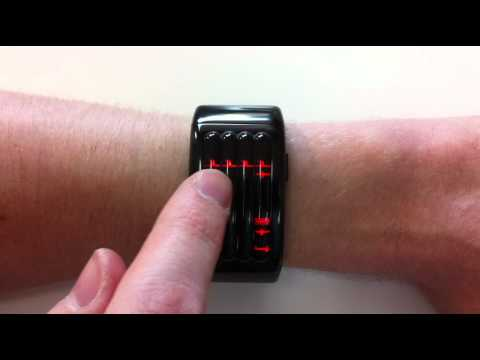 Kisai Keisan Black Aluminum Red LED Watch Design From Tokyoflash Japan