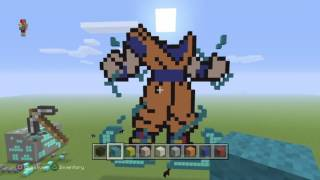 Minecraft speed building Goku SSGSS
