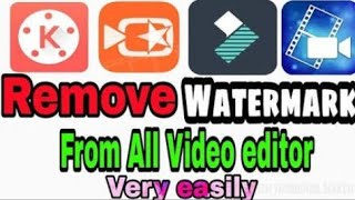 How to remove watermark in kinemaster permanently 2019 #Only on Tech brothers