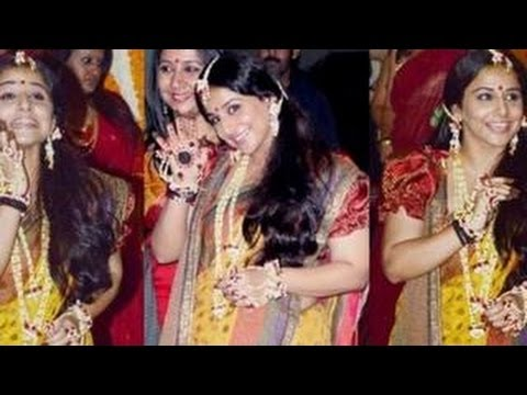 Vidya Balan's MEHENDI CEREMONY