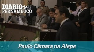 Paulo C�mara faz discurso na Alepe
