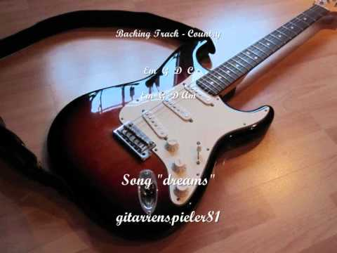 Country Guitar Backing Track Solo In E Minor - Song dreams video