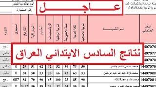 نتائج الصف السادس الابتدائي الدور الاول 2017 جميع المحافظات العراق