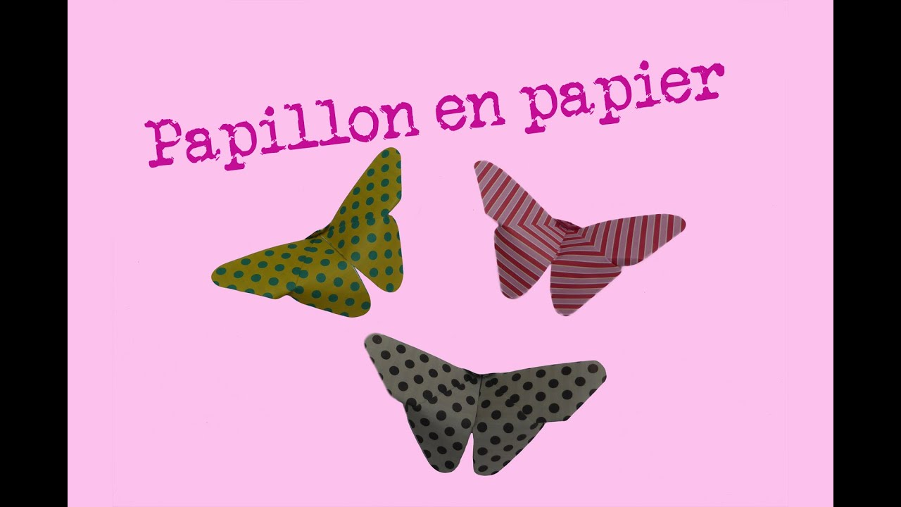 Comment faire un papillon en papier facile pliages d - Origami rose facile a faire ...