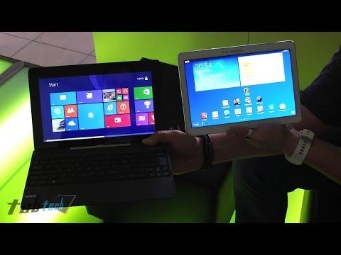Asus Transformer Book T100 vs. Samsung Galaxy Note 10.1 2014 (Deutsch) | tabtech.de
