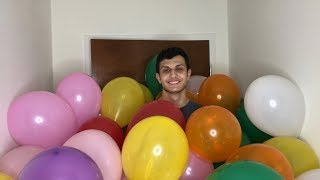 We Filled a Room With 10,000 Balloons!!