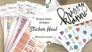Krissyanne Designs (KAD) Sticker Haul | Michael's Collab |