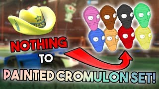 TRADING FROM NOTHING TO *PAINTED CROMULON SET* EP1 (Rocket League Best Trading Montage)