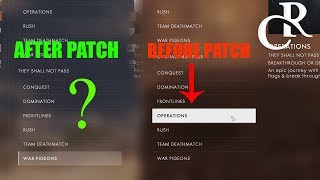 Operations REMOVED from Quickmatch (DLC)  -  Battlefield 1