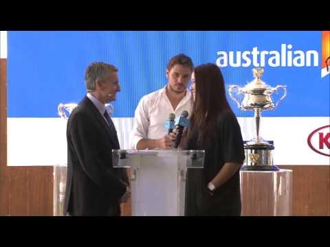 Li Na at the draw - Australian Open 2015