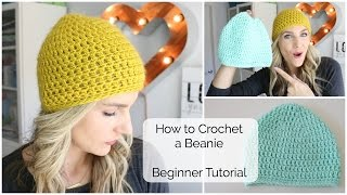 How to Crochet a Beanie  Beginner Tutorial