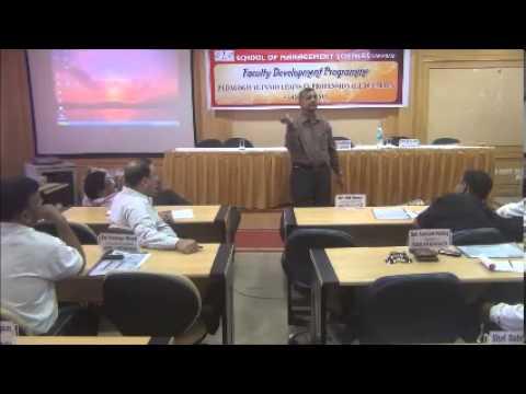 Prof. Anand Prakash, (Delhi University), during FDP at SMS Varanasi (Part II)