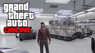 GTA 5 Online - How To Save/Insure A Tank In Your Garage! GTA Online Glitch! (GTA V Multiplayer)
