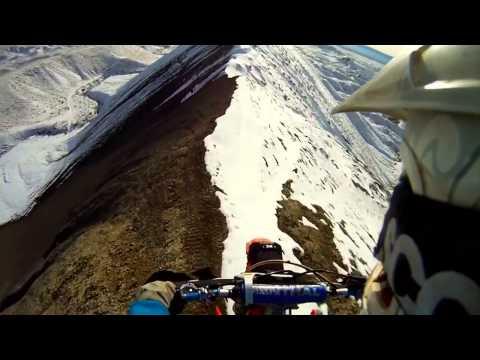 Мото Снежные..  GoPro  Moto Snowy Ridgeline