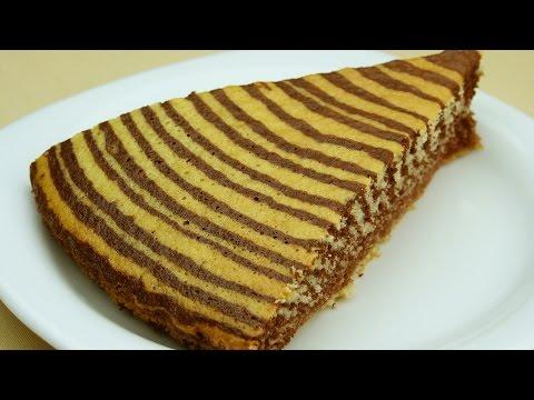 """Вкусный торт """"Зебра"""" - Рецепт мраморного торта"""
