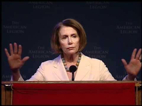 Pelosi Speaks to 2011 American Legion Convention