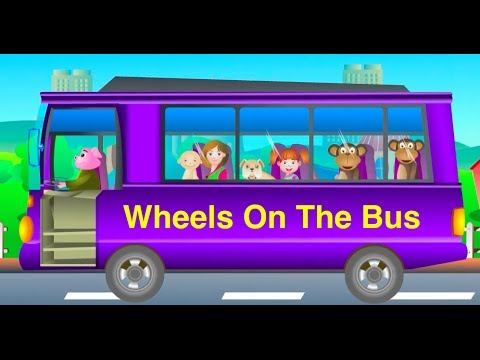 The Wheels On The Bus Go Round And Round Nursery Rhyme video