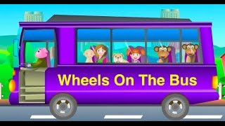 The Wheels On The Bus Go Round and Round Nursery Rhyme