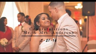 Mr. and Mrs. Anderson Wedding Day