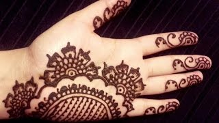 Simple Arabic Henna - Floral Elegant Mehendi Design