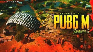 🔴PUBG MOBILE LIVE : SEASON 8 RP GIVEAWAY ON DISCORD - JOIN NOW !d | H¥DRA | GURU
