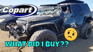 PICKING UP MY NEW REBUILD PROJECT FROM COPART AUTO AUCTION ( no it is not a jeep rubicon)