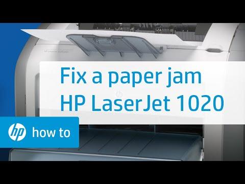Fixing a Paper Jam - HP LaserJet 1020 Printer