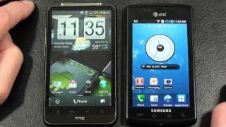 HTC Inspire 4G vs Samsung Captivate AT&T Face Off Part 2