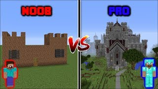 Minecraft NOOB VS PRO: CASTLE BUILD CHALLENGE in Minecraft
