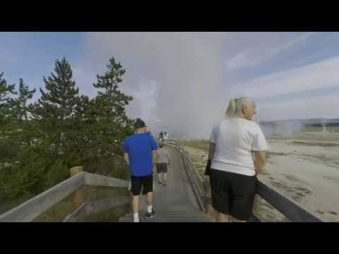 Walking the Fountain Paint Pot Trail, Yellowstone National Park  in 3D VR180