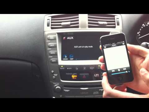 Lexus Wireless Music Streaming using Bluetooth A2DP