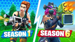 FORTNITE SEASON 1 vs SEASON 6 ESCAPE ROOM CHALLENGE!
