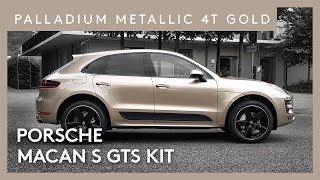 2018 Porsche Macan S GTS Kit Palladium Metallic 4T Gold