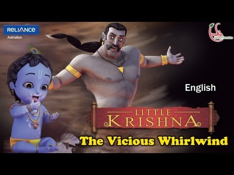 LITTLE KRISHNA ENGLISH EPISODE 12 THE VICIOUS WHIRLWIND ANIMATION...