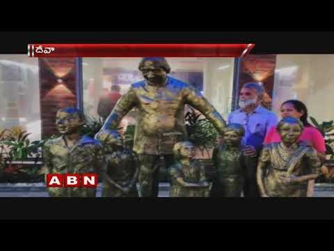 Dr A P J Abdul Kalam's Statue Carved In Hindu temple | Rameswaram | ABN Telugu