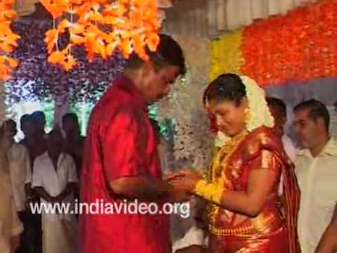 Bride and groom seek blessings - Rituals of Hindu marriages, Kerala