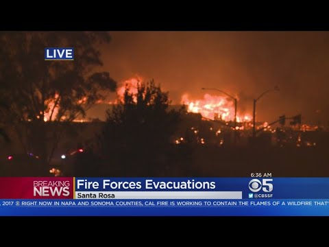 Massive Wildfire Forces Evacuations In Santa Rosa