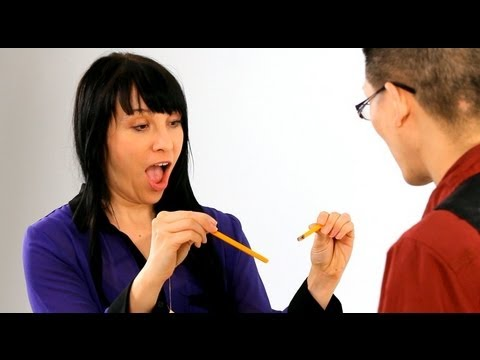 How to Break Pencil with an Index Card | Magic Tricks