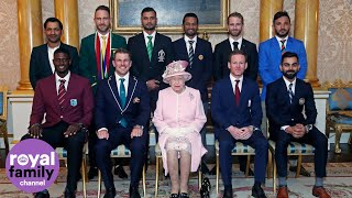 The Queen and Duke of Sussex meet cricket captains ahead of World Cup