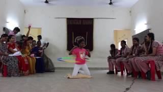 U.Nithiyashree creating a new record Hula Hoop Neel down Hip movement in 1098 Spins