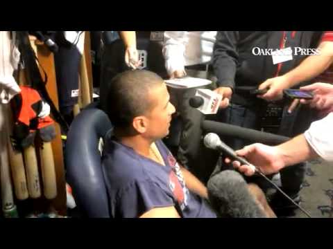 VIDEO: #Tigers DH Victor Martinez on whether #WhiteSox P Chris Sale hit him on purpose.