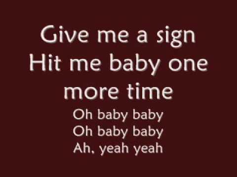 Britney SpearsBa one more time lyrics
