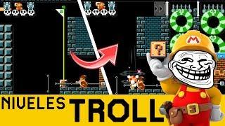 JAPO PILLO QUE SORPRENDE!! 😮- NIVELES TROLL #9 | Super Mario Maker - ZetaSSJ