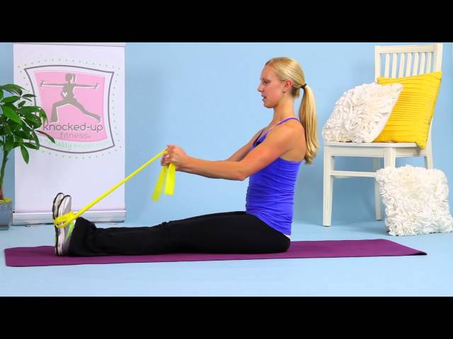 Choo Choo Tricep Exercise with Resistance Band by Erica Ziel